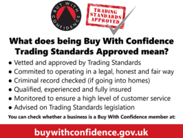 Buy With Confidence and Trading Standards Approved